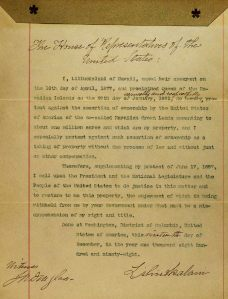 Palapala to the U.S. written by Queen Lili'uokalani
