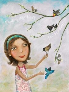 Feeding the Birds, by Joanna Dover
